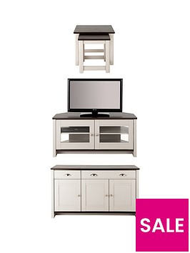 consort-tivoli-corner-tv-3-piece-package-ready-assembled-sideboard-corner-tv-unit-and-nest-of-tables-in-greywalnut-effect