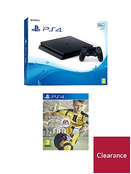 playstation-4-slim-500gb-console-with-fifa-17-plus-optional-extras