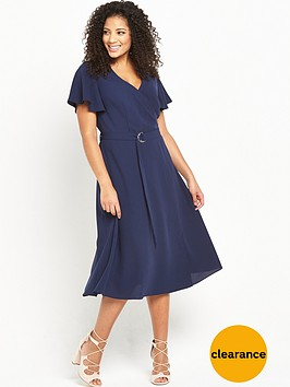 v-by-very-curve-curve-wrap-d-ring-dress-navy