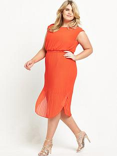 so-fabulous-curve-belted-pleated-dress-orange