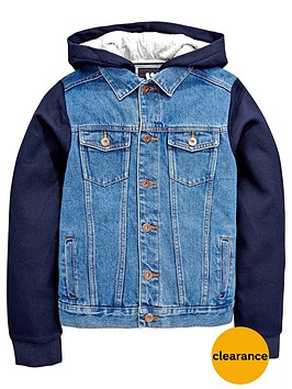 V by Very Boys Denim Hooded Jacket | very.co.uk