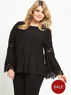 v-by-very-curve-lace-panel-sleeve-top