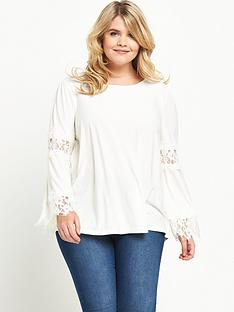 so-fabulous-lace-panel-sleeve-top