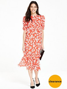 v-by-very-ruffle-sleeve-midi-dress