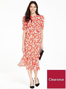 v-by-very-ruffle-sleeve-midi-dress