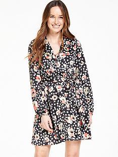 v-by-very-satin-wrap-printed-tea-dress