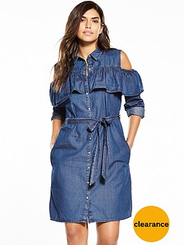 v-by-very-cold-shoulder-frill-shirt-dress