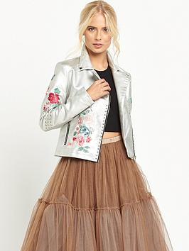glamorous-lace-up-embroidered-biker-jacket-silver