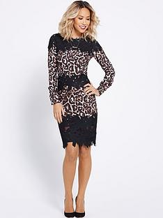 myleene-klass-leopard-and-lace-pencil-dress