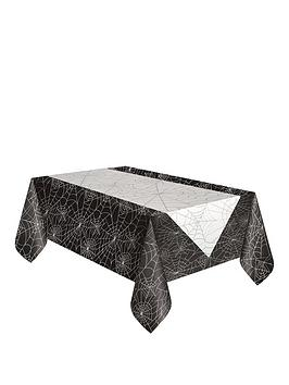 halloween-tablecloth-amp-spiderweb-runner