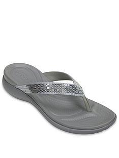 crocs-capri-v-sequin-flip