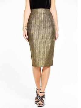 v-by-very-metallic-foil-ribbed-midi-skirtnbsp
