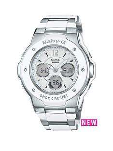casio-casio-baby-g-pretty-tough-white-dial-stainless-steel-bracelet-ladies-watch