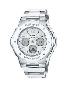 casio-casio-baby-g-pretty-tough-white-dial-stainless-steel-bracelet-ladies-watch