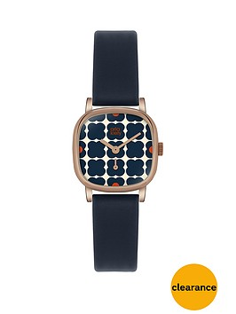 orla-kiely-patterned-dial-navy-strap-ladies-watch