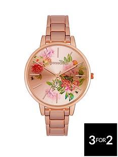 accessorize-flower-dial-rose-tone-ladies-bracelet-watch