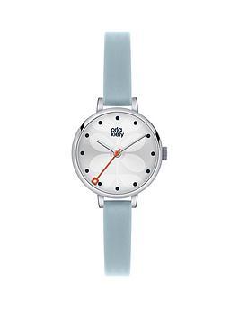 orla-kiely-orla-kiely-ivy-silver-flower-dial-light-blue-leather-strap-ladies-watch