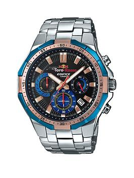 casio-casio-ediface-toro-rosso-black-dial-blue-bezel-stainless-steel-bracelet-mens-watch