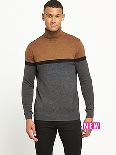river-island-colour-block-roll-neck-jumper