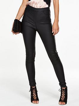 v-by-very-petite-charley-high-rise-side-zip-coatednbspjeggingnbsp--black
