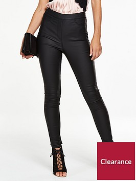 v-by-very-petite-charley-high-rise-side-zip-coatednbspjeggingnbsp--black