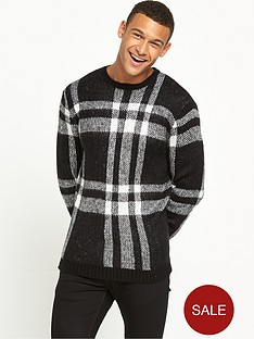 river-island-black-check-jumper