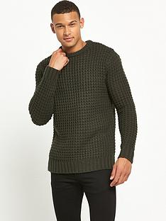 river-island-chunky-waffle-textured-jumper