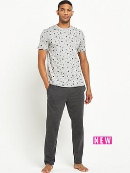 river-island-skull-print-jersey-pyjama-set