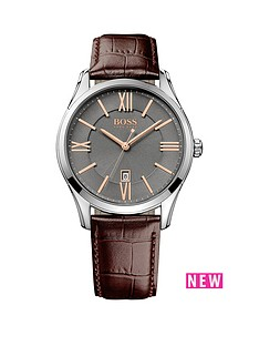 hugo-boss-black-hugo-boss-boss-black-ambassador-grey-dial-rose-tone-accents-brown-leather-strap-mens-watch