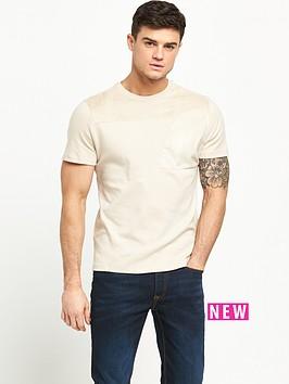 river-island-suedette-panel-tshirt