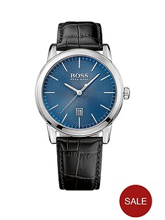 hugo-boss-black-hugo-boss-boss-black-classi-1-blue-dial-black-leather-strap-mens-watch