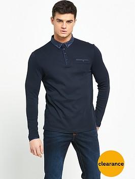 river-island-long-sleeve-jersey-polo