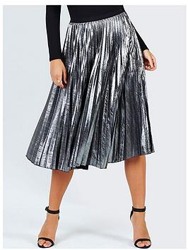 girls-on-film-metallic-pleat-midi-skirt-silver