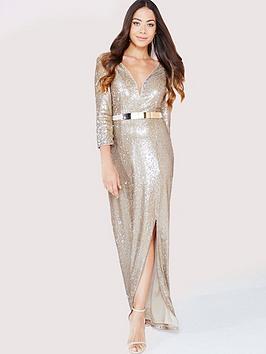 little-mistress-sequin-maxi-dress-with-belt-gold