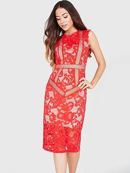little-mistress-lace-panel-midi-dress