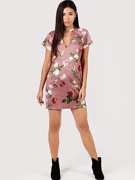 girls-on-film-tulip-print-shift-dress-with-keyhole-mink