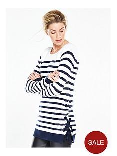 v-by-very-chunky-stripe-eyelet-tie-side-jumper