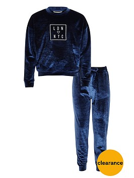 river-island-girls-blue-velvet-sweatshirt-joggers-set
