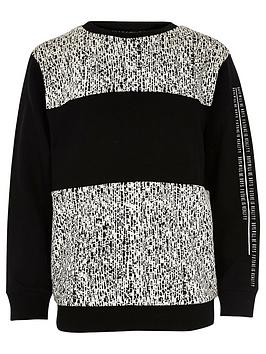 river-island-boys-black-block-jacquard-sweatshirt