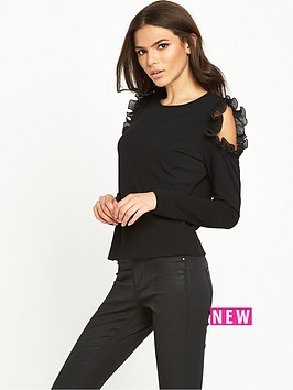 lost-ink-pleated-frill-cold-shoulder