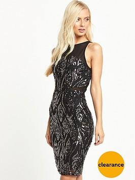 tfnc-remy-sequin-midi-bodycon-dress-black