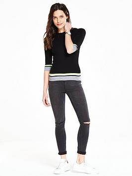 v-by-very-sporty-rib-contrast-tipping-short-sleeve-jumper