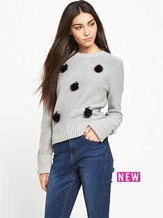 lost-ink-the-bee-embellished-jumper-grey