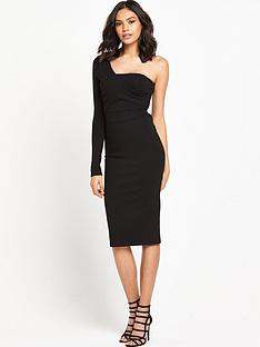 lost-ink-ollie-one-sleeve-bodycon-dress-black