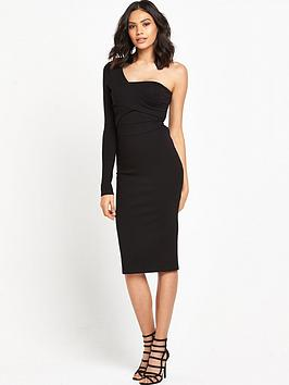 lost-ink-ollie-one-sleeve-bodycon-dress-black
