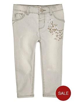 river-island-mini-girls-grey-embroidered-skinny-jeans