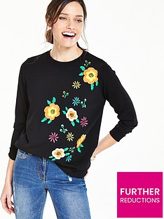 v-by-very-floral-embroidered-jumper-blacknbsp
