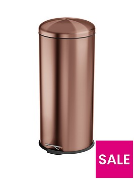 swan-townhouse-30-litre-round-pedal-bin-copper