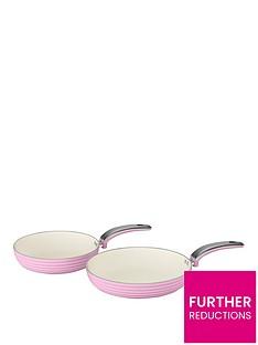 swan-retro-set-of-2-frying-pans-ndash-pink
