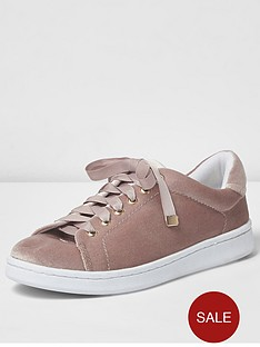 river-island-velvet-lace-up-trainer